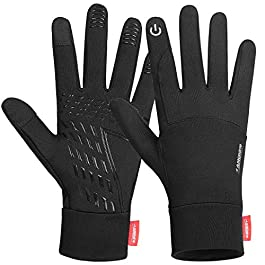 Anqier Lightweight Running Gloves, Touch Screen Gloves Winter Liner Gloves Elastic Thin Gloves for Sports Driving Cycling Texting Walking Skiing Work Gloves Women Men In Winter Early Spring Or Fall