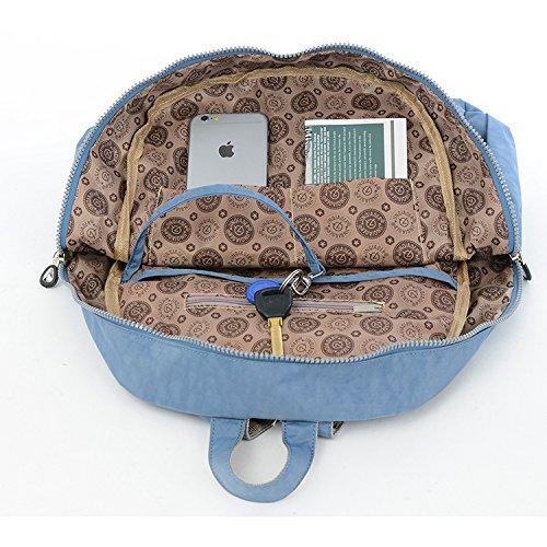Outreo Rucksack Leichter Schultaschen Damen Schulrucksack Rucksäcke Wasserdicht Schul Daypack Lässige Tasche Reisetasche Backpack für Sport Blau 4
