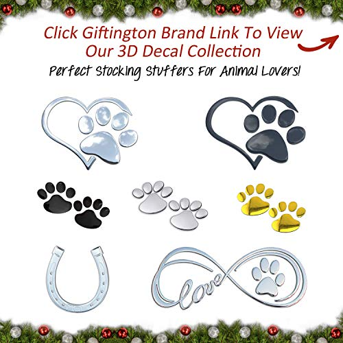Giftington 3D Heart And Paw Decal - http://coolthings.us