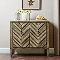 Dresden Chevron Accent Chest Beige Multi See below