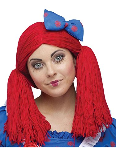 (Forum Rag Doll Wig, Red, One)