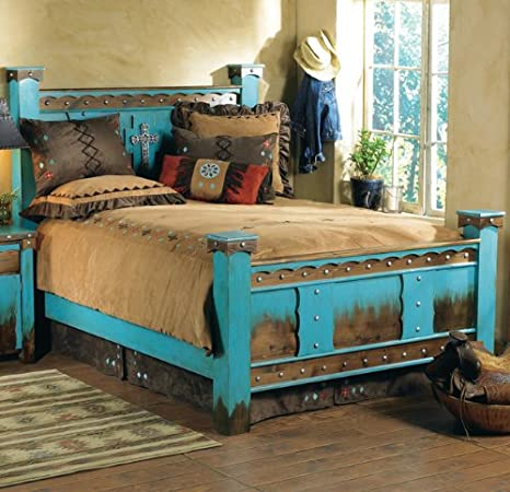 Amazon Com Westen Bed Frame Country Rustic Cabin Log Wood