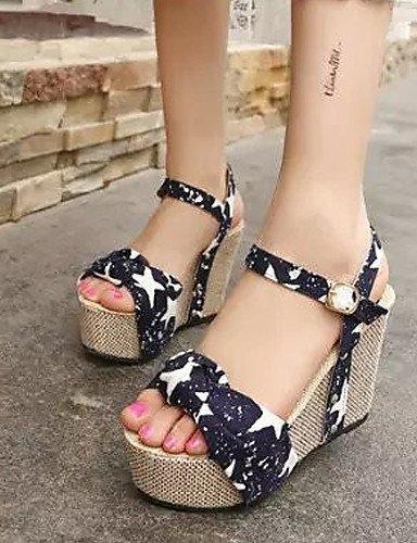 ShangYi Women's Shoes Flat Heel Flip Flops/Comfort Sandals Outdoor/Office & Career/Dress Black/Brown/White Blue WhaEIKbxJ