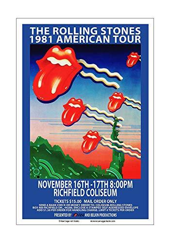 Raw Sugar Art Studio Rolling Stones 1981 Cleveland Concert Poster ()
