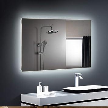 Specchio Bagno Cornice Argento.Bathroom Mirror Specchio Del Bagno Con Luce Led Specchio Cosmetico