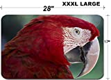 Luxlady Large Table Mat Non-Slip Natural Rubber Desk Pads ID: 40629427 Red Macaw Parrot in Bali Bird Park Indonesia
