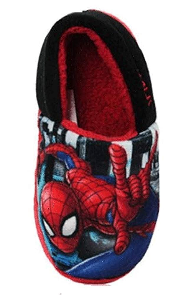 Red EU 32 Spiderman Boys Griggs Slip On Full Slipper UK 13 Child
