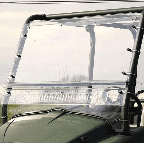 Over Armour Kubota RTV 400//500 Two Piece Aero-Vent Front Windshield Without Hardcoat