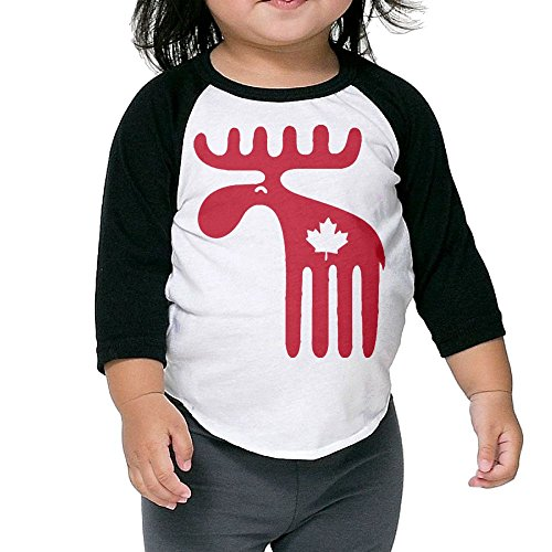Reinforced Rice Paper (SH-rong Moose Maple Leaf Toddler Baseball Tee Size5-6 Toddler)
