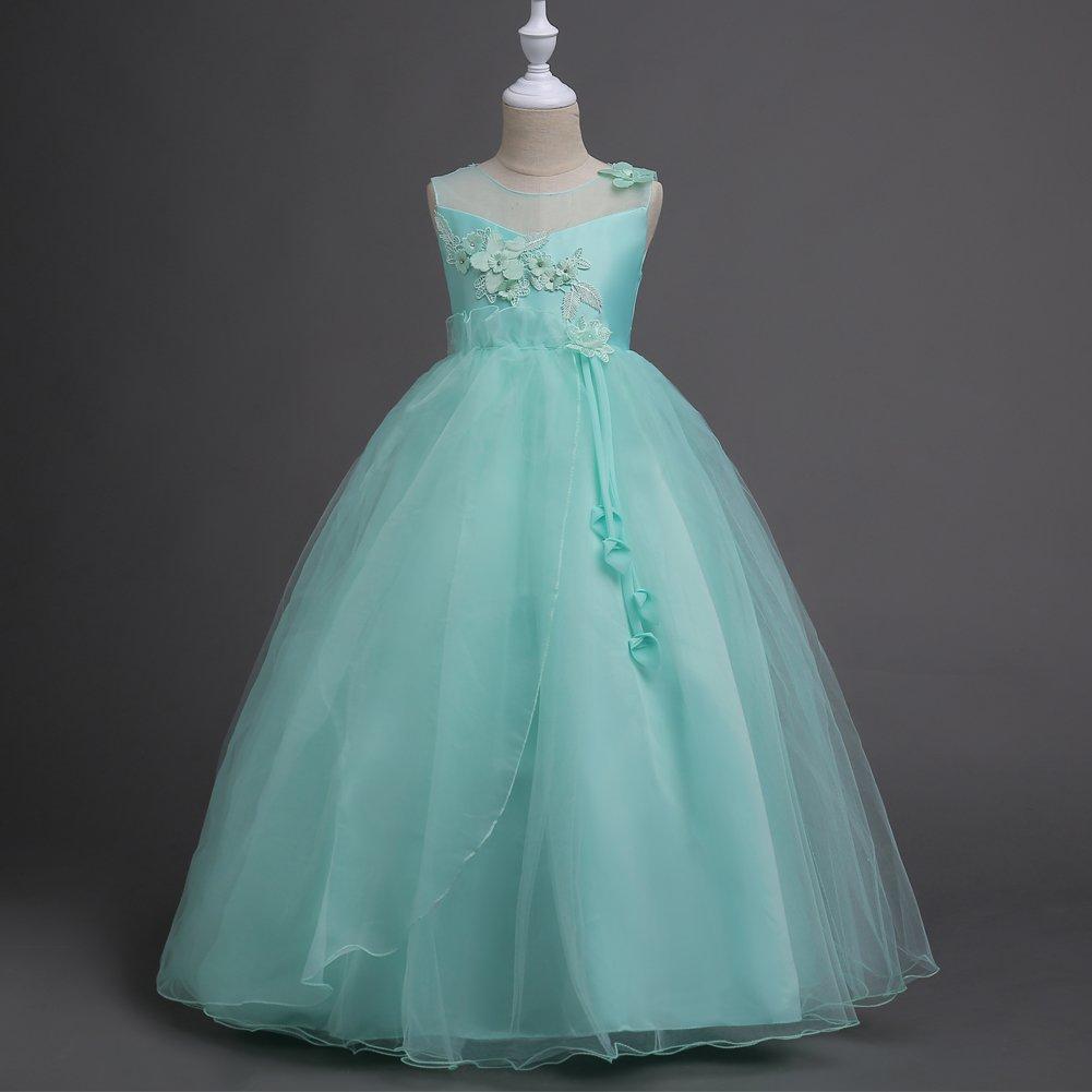 Princesa Vestido de Niña # de Flores la Pageant Boda 5-16 Vestidos ...
