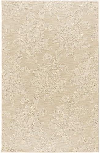 Surya M-175 Mystique Floral Area Rug, 9-Feet by 13-Feet, Ivory
