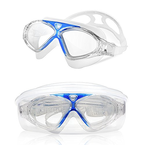 Kids Child Swim Goggles, Amazer Kid Child Swimming Goggles with Clear Vision Anti Fog UV Protection No Leak Come Easy to Adjust with Free Protection Case for Kids Child Early Teens (Water Googles For Kids)