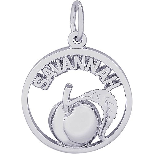Rembrandt Charms Savannah Peach Charm, Sterling Silver by Rembrandt Charms
