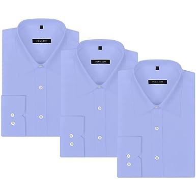 vidaXL Camisas de Vestir/Negocios de Hombre Pack 3 Unidades Talla ...