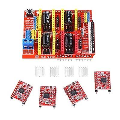 Flameer 3D Printer Kit for Arduino Mega 2560 R3 + RAMPS 1.4 Controller + LCD 2004 + 4 A4988 Stepper Driver 3D Printer Interface & Driver Modules
