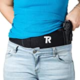 """tommy raz Belly Band Holster for Concealed Carry for Men & Women - Adjustable 42"""" Gun Belt for Pistols, Revolvers & Handguns - Noiseless Fast-Opening Snap & Anti-Sweat Cotton Lining (LEFT)"""