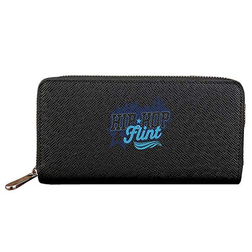 Long Fashion Purse Hip-hop For Flint PU Wallets Cit Card Clutch Huge Storage Capacity by Biprdwm