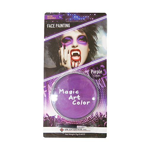 Magic Art Color -- Magic Art Color Makeup (Women's Jester Halloween Makeup)