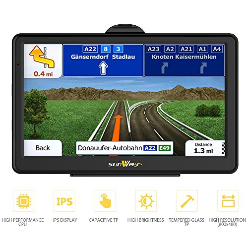 7-inch 8GB high-brightness sat nav and touchscreen including...
