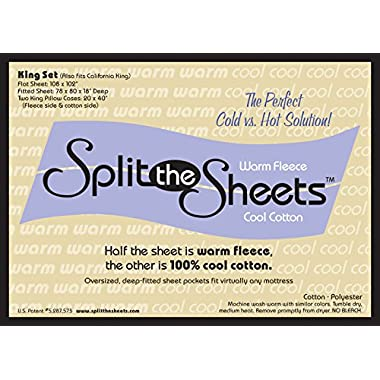 Split the Sheets  Sheet Set - Queen - White