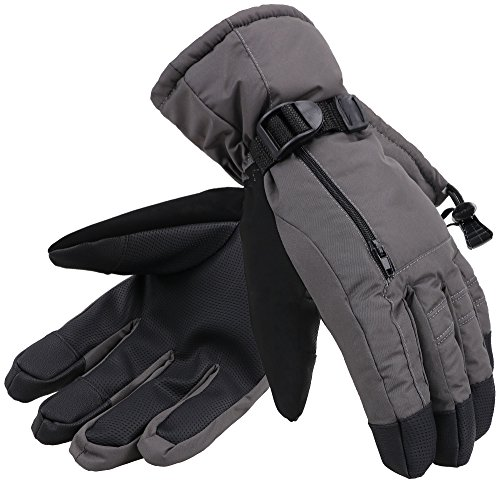 Andorra Mens Abstract Deluxe Touchscreen Sport Ski Gloves-Assorted Patterns/Colors