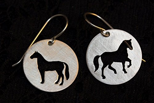 Argentium Silver Jump Rings - Sterling silver horse earrings