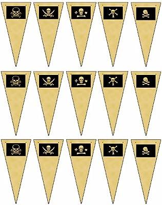 Bandera pirata imágenes de pergamino con banderines de 15 ...