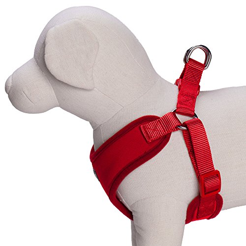 Image of Blueberry Pet 4 Colors Better Basic Dog Harness Vest, Rouge Red, Chest Girth 17