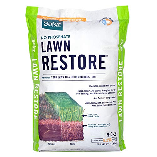 Safer Brand 9334 Lawn Restore Fertilizer – 25 lb, White