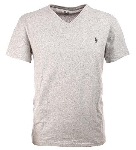 Polo Ralph Lauren Men's Classic Fit V-Neck T-Shirt (Lawrence Grey, - Polo Grey Lauren Ralph