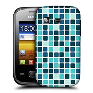 Head Case Designs Blue Mosaic Tile Protective Snap-on Hard Back Case Cover for Samsung Galaxy Pocket S5300 by ruishername