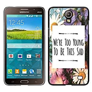 Dragon Case - FOR Samsung Galaxy Mega 2 - we're too young - Caja protectora de pl??stico duro de la cubierta Dise?¡Ào Slim Fit