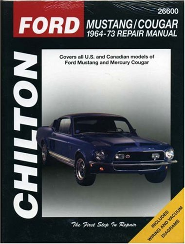 ford mustang and cougar 1964 73 chilton total car care series manuals at v. Black Bedroom Furniture Sets. Home Design Ideas