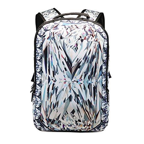 AIZHE Kids Book Backpacks Childrens Schoolbag Teenager 3D Cartoon School Bookbag And Colorful Travel Daypack(Diamond)