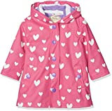 Hatley Girls' Little Splash Jackets, Color Changing Floating Hearts, 4