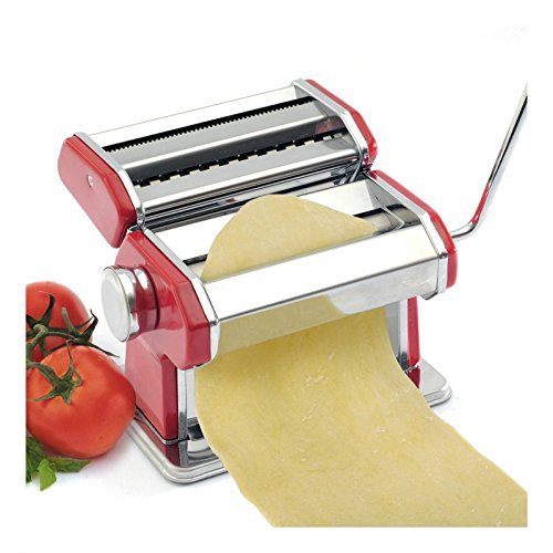 Norpro Red Deluxe Pasta Machine Noodle Maker w/ Clamp 9 Thic