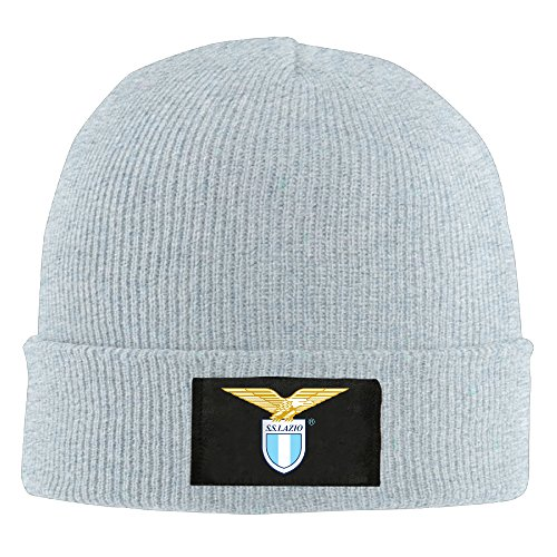 Gdlov S.S. Lazio Men Women Unisex Winter Warm Acrylic Watch Knit Woolen Beanie Cap Hat Size One Size US Ash