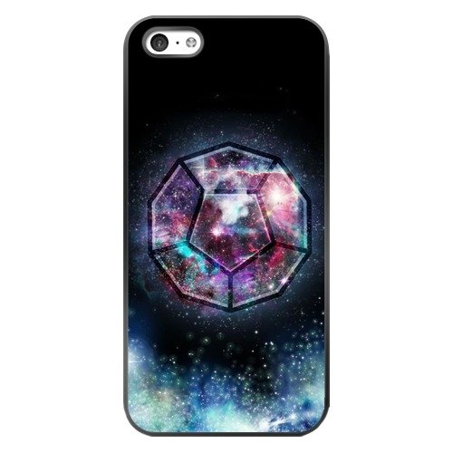 The Universe Ether Element and it's Sacred Geometric Geometry Symbol Dodecahedron 12 Faces Regular Pentagons TPU Plastic Case for iPhone 5c (Black Pentagon Case)