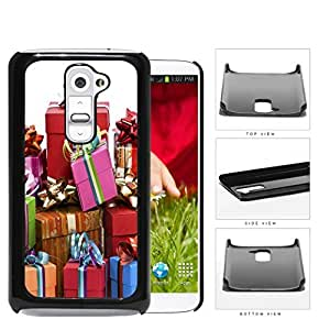 Gift Boxes With Ribbon And Bow Presentation Hard Plastic Snap On Cell Phone Case LG G2