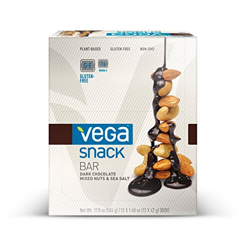Vega Snack Bar, Chocolate Nuts & Sea Salt, 12 Count (Vega Protein Bar compare prices)