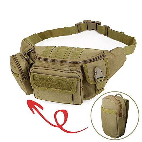 2win2buy Taktische Militär Hüfttasche, Bauchtasche Gürteltasche [9 Fächer] MOLLE Praktische Beutel für Outdoor Sport…