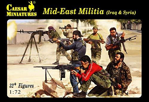 - Caesar Miniatures H101 Mid-East Militia Iraq & Syria 1/72 Scale Model Figures