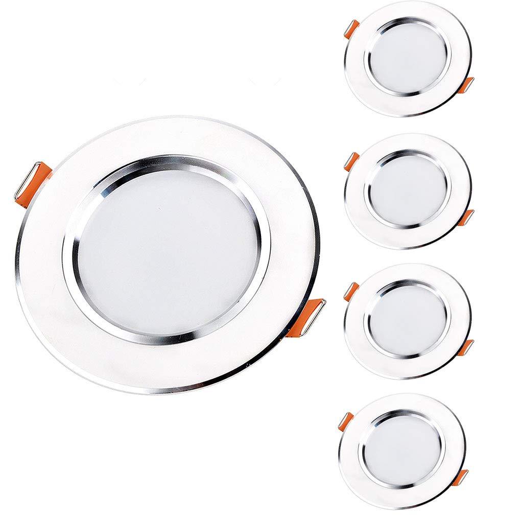 5er Pack Led Downlight ultradünne eingebettete Barrel-Licht-Loch-Lampen-Wohnzimmer-Deckenverkleidungs-Licht (Farbe   Warmweiß-9W Open hole 11-12cm)