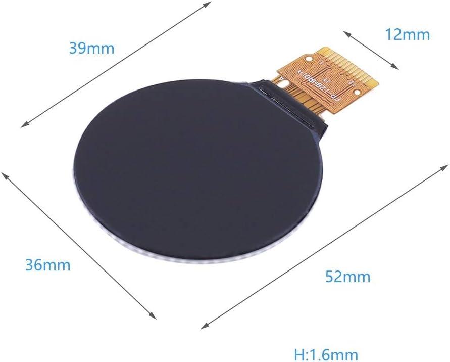 240 GC9A01 Treiber-SPI-Schnittstelle 240 x 240 Aufl/ösung DC 3,3 V 1,28 Zoll LCD-Anzeigemodul Rund RGB 240