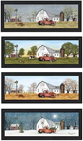 Trendy Decor4U Four Seasons Collection VII 4-Piece Vignette