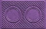 AquaShield Dog Bowl Wave Pet Feeder Mat, Purple, 18'' x 27''