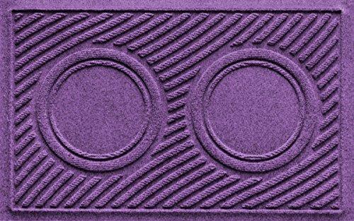 Aqua Shield Dog Bowl Wave Pet Feeder Mat, Purple, 18