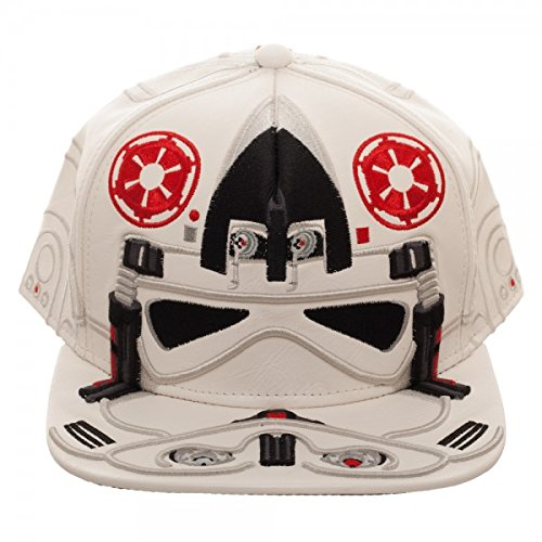 san francisco a67da 480d9 Image Unavailable. Image not available for. Color  Star Wars at-at Pilot  Big Face Snapback Hat White