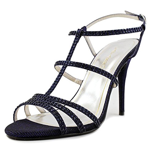 - Caparros Womens Groovy Open Toe Casual Strappy Sandals, Navy Glimmer, Size 7.5 V