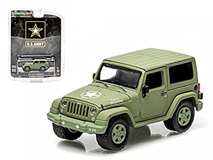 Amazon Com Greenlight 2014 Jeep Wrangler Us Army 1 64 Scale Light